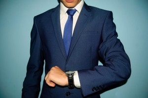 男性 スーツ 時計