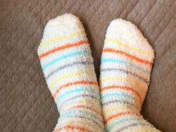 防寒のもこもこ靴下