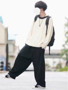 モヘアニット 男性 コーデ カジュアル