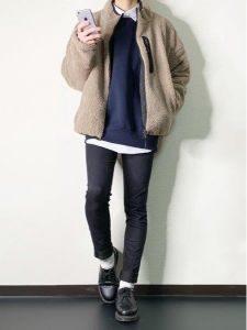 男性 ファッション ネイビー ベージュ