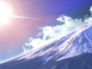 富士山 太陽