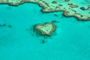 ハート型の島