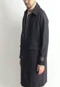 ウールステンカラーコート メンズ