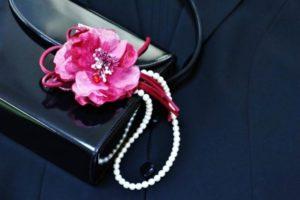 入学式 バッグ コサージュ パールのネックレス