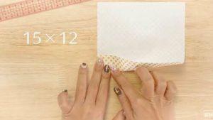 折り紙を15×12にカット