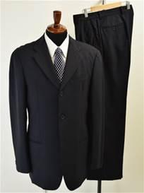 メンズ ブラックスーツ