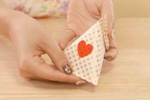 折り紙で作ったテトラパック