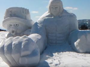 十日町雪まつり 雪像