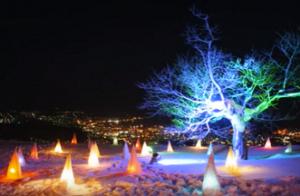 小樽雪あかりの路 天狗山会場 ライトアップ
