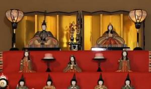 佐賀城下ひなまつり 雛人形 手織り佐賀錦 旧福田家