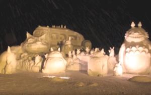 十日町雪まつり 雪像 トトロ