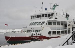 砕氷船おーろら号 流氷