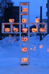 小樽雪あかりの路 キャンドル オブジェ