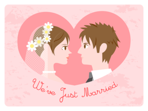 we're just mariied イラスト