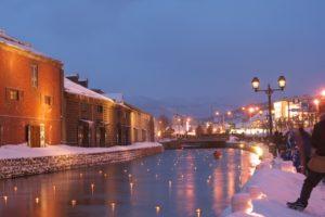 小樽雪あかりの路 小樽運河