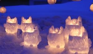 小樽雪あかりの路 雪 キャンドル