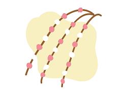餅花 飾る