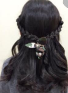 女の子 髪型 ティアラ風