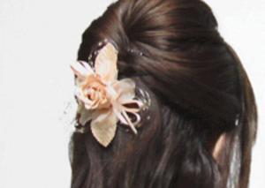 卒業式 母親 コサージュ 髪