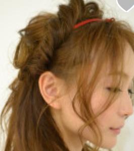 髪型 細めカチューシャ