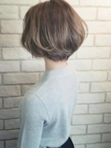 ひし形ボブ 卒園式 ママ 髪型