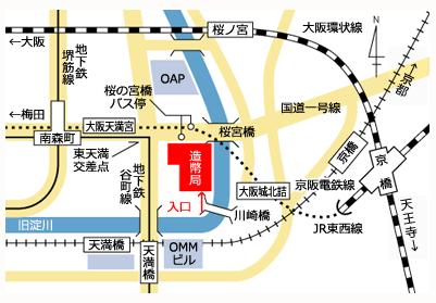 大阪造幣局 桜の通り抜け アクセスマップ