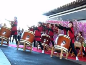 三浦海岸桜まつり お迎え式 陣屋太鼓