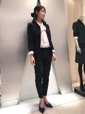 シンプル パンツスーツ