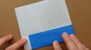 折り紙 4等分幅に折る