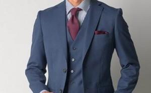 スーツ 男性 紺色