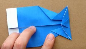 折り紙 鯉のぼりの顔部分