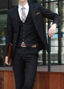 ブラックスーツ スリーピース