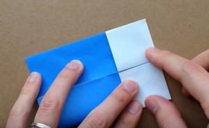 折り紙 4等分幅に折り込む
