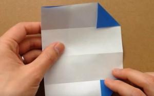 折り紙 鯉のぼりの顔部分を折る
