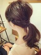 ポニーテール 髪の毛