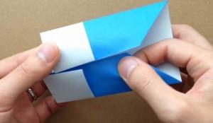 折り紙 鯉のぼり 端部分をあわせる