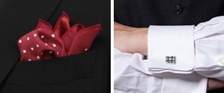 ポケットチーフ カフス