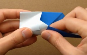 折り紙 鯉のぼり 内側に入れ込む