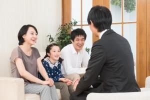 家庭訪問 先生と家族