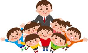 先生と子供たち イラスト