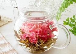 カーネーション茶 ティーポット