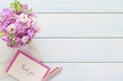 手紙 お花
