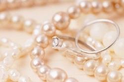 アクセサリー パールのネックレス 指輪