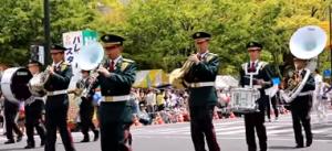 ひろしまフラワーフェスティバル パレード 楽器