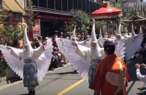 浅草三社祭 行列 白鷺の舞