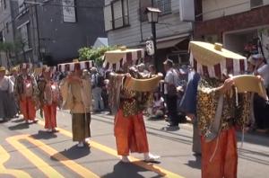 浅草三社祭 行列 びんざさら
