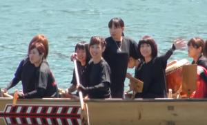 相生ペーロン祭 ペーロン競漕 女性チーム