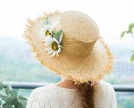 麦わら帽子 造花