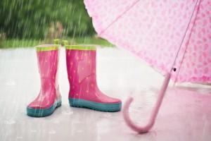 傘 長靴 雨