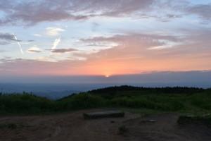 葛城山 山頂 夕日